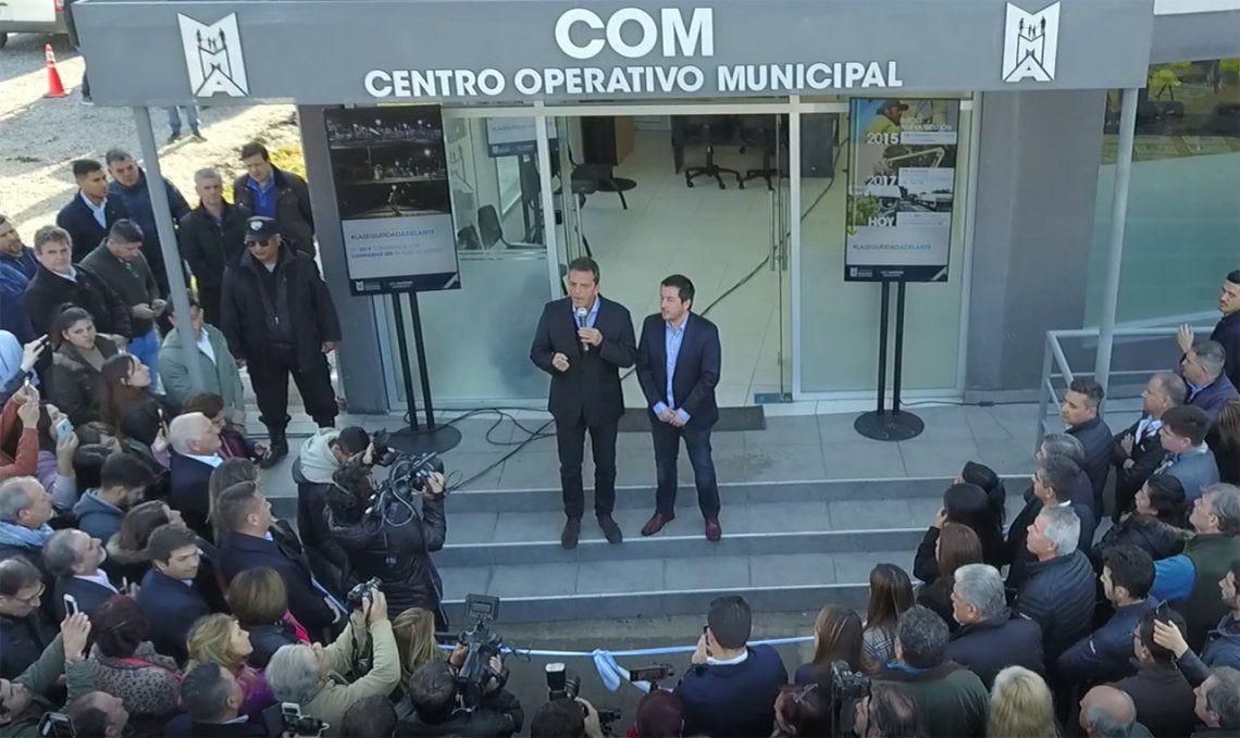Nardini inauguró junto a Massa un moderno Centro de Monitoreo