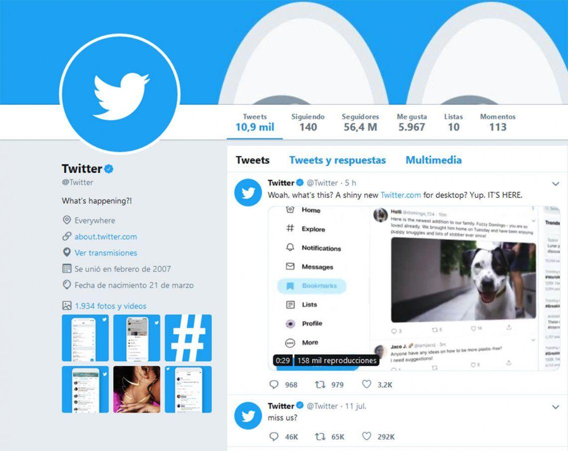 Twitter renueva su sitio web