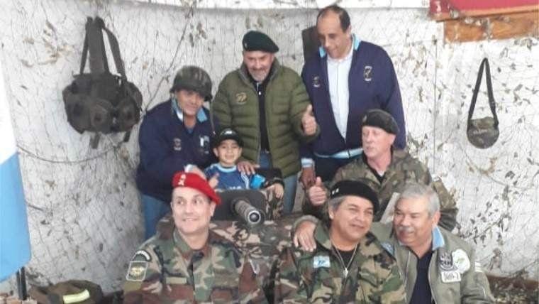 Cumplió cinco años y pidió festejarlo con veteranos de Malvinas