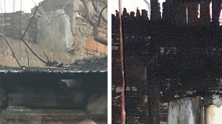 El fuego arrasó la casa de una humilde familia y piden donaciones