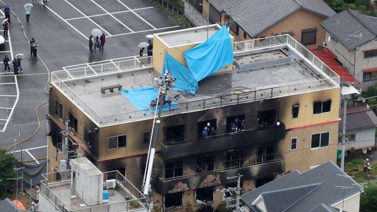 Un hombre incendió un estudio de animación y mató a 33 personas