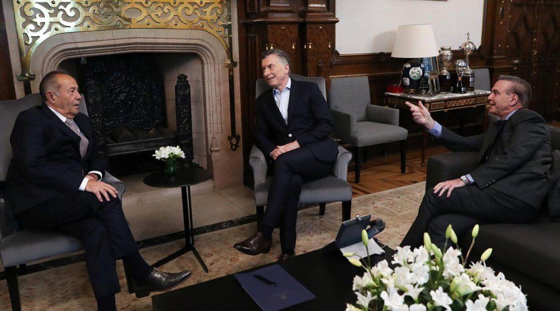 Mauricio Macri y Miguel Ángel Pichetto sumaron como aliado a Adolfo Rodríguez Saá