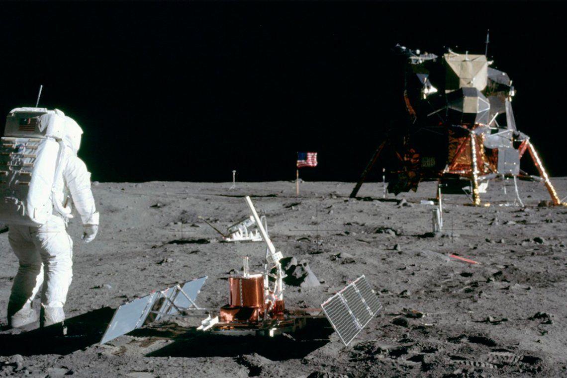 Cómo era el módulo lunar del Apolo XI