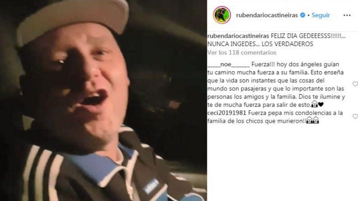 El video que subió El Pepo de Los Gedes minutos antes del accidente por el Día del Amigo