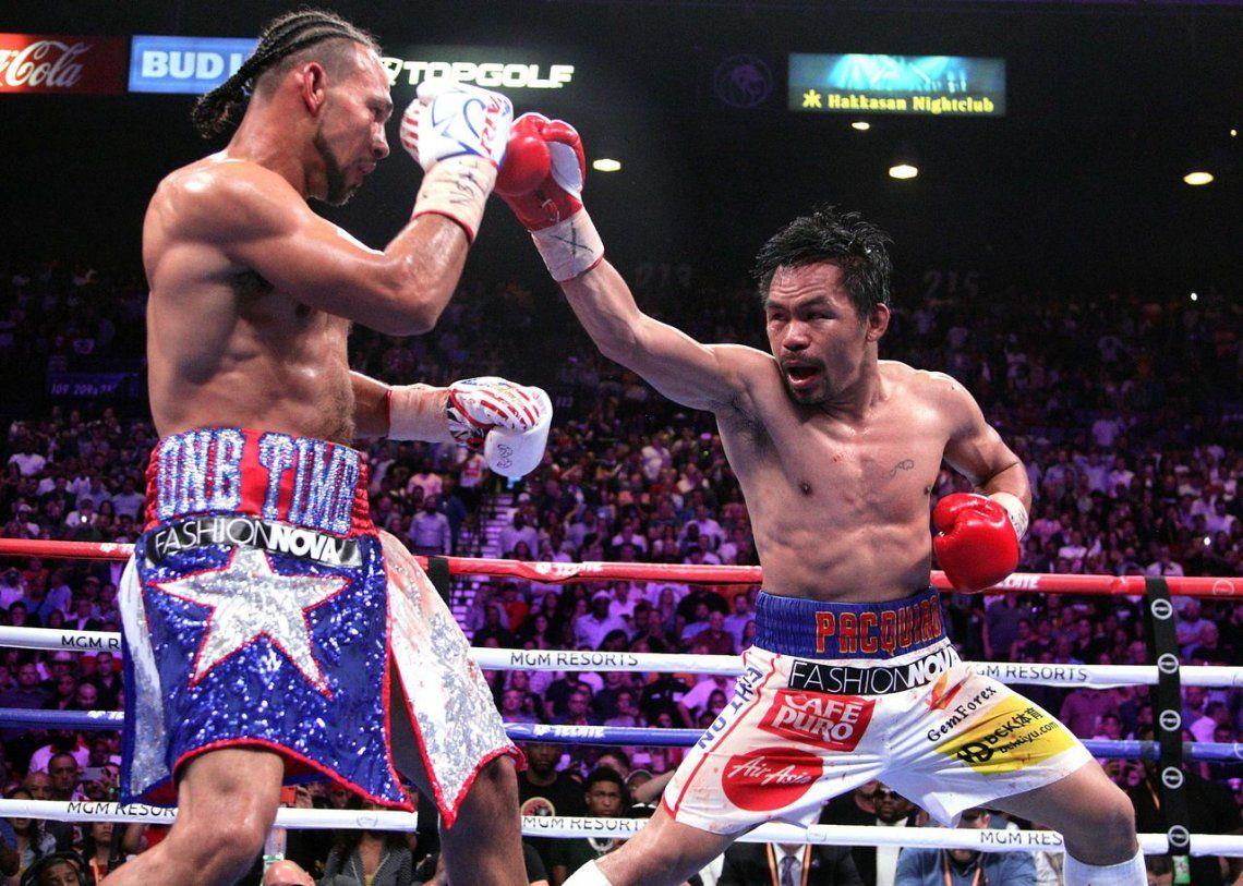 Pacquiao ganó el cinturón de peso welter en Las Vegas