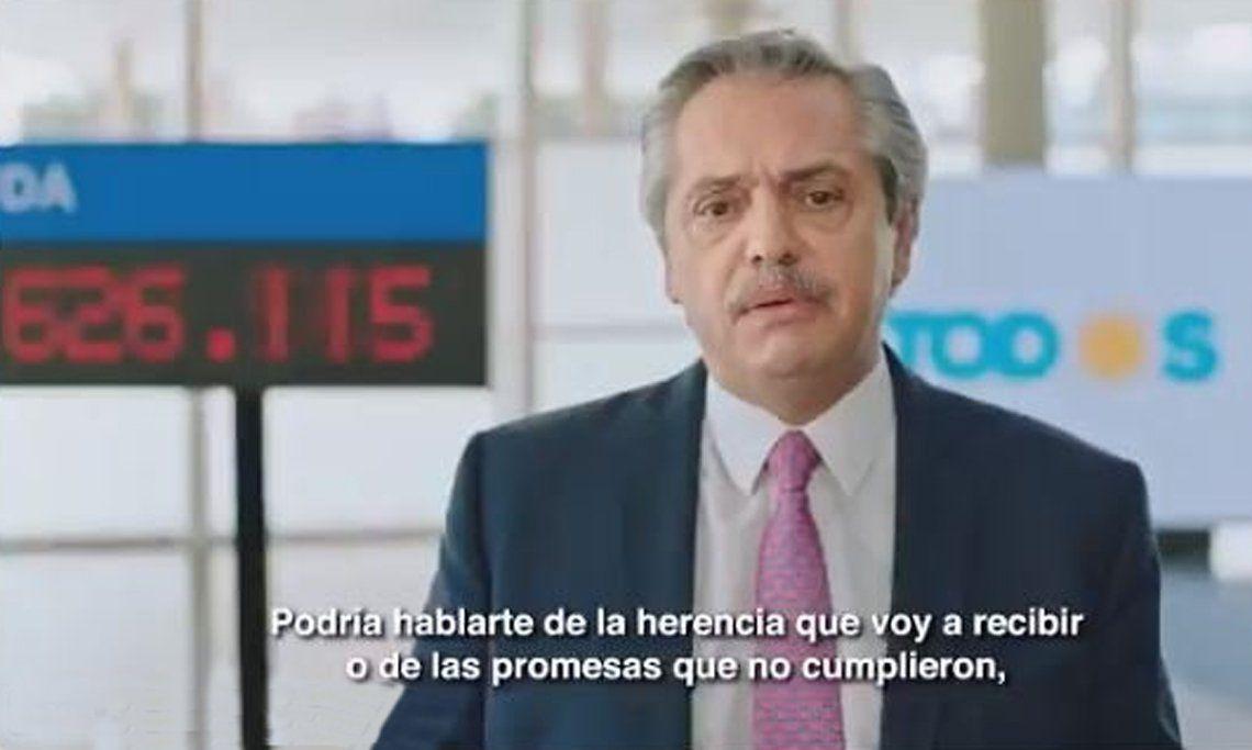 En un nuevo spot, Alberto Fernández acusó a Macri de vivir poniendo excusas
