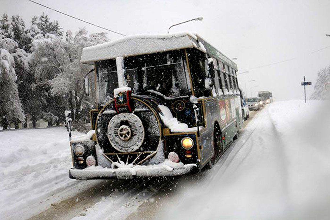 Las intensas nevadas en Bariloche en fotos