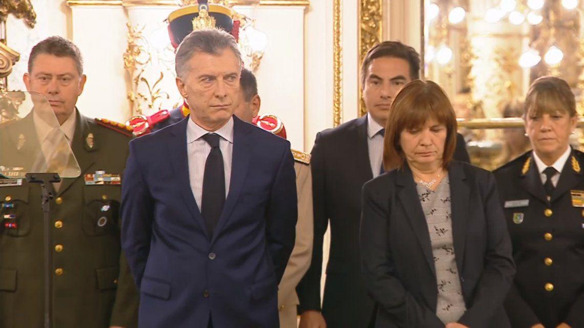 Macri, a las fuerzas armadas: Son una inspiración para sus pares