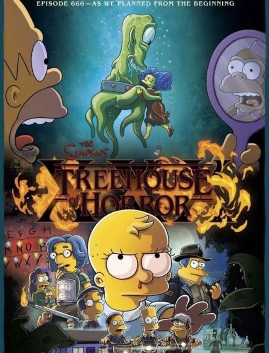 Stranger Things, según Los Simpson