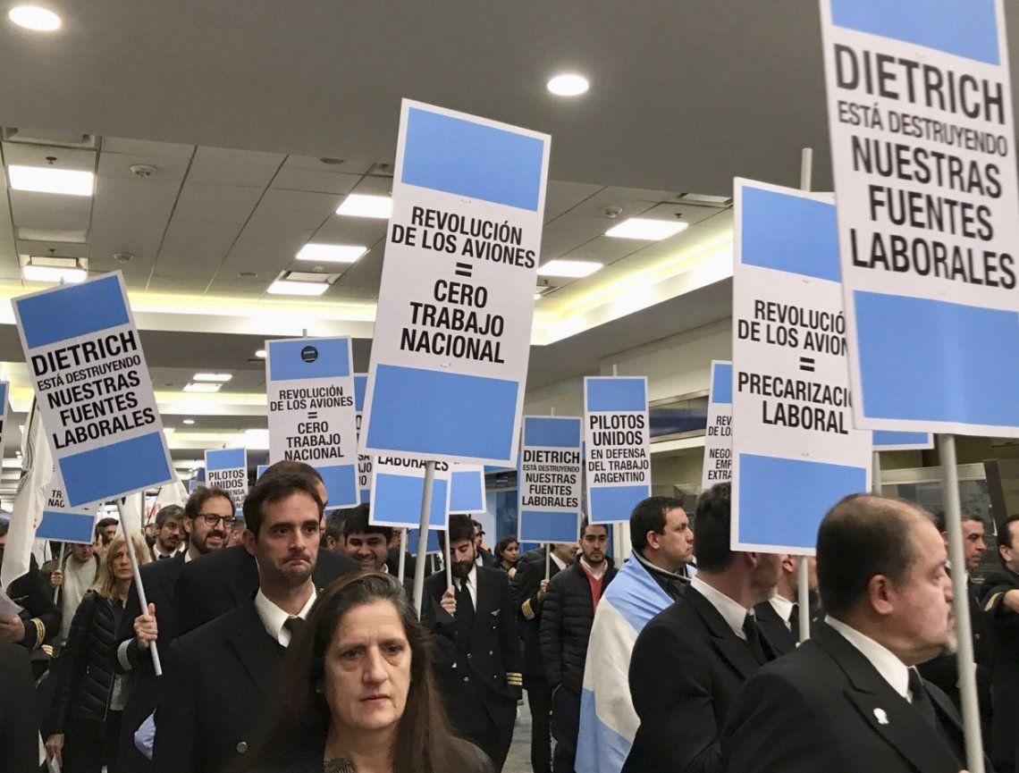 Habrá una nueva protesta de Aeronavegantes en Aeroparque