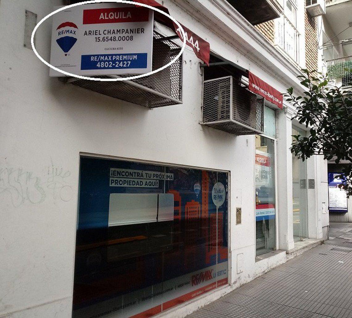 Una de las inmobiliarias cerradas por la crisis en el sector