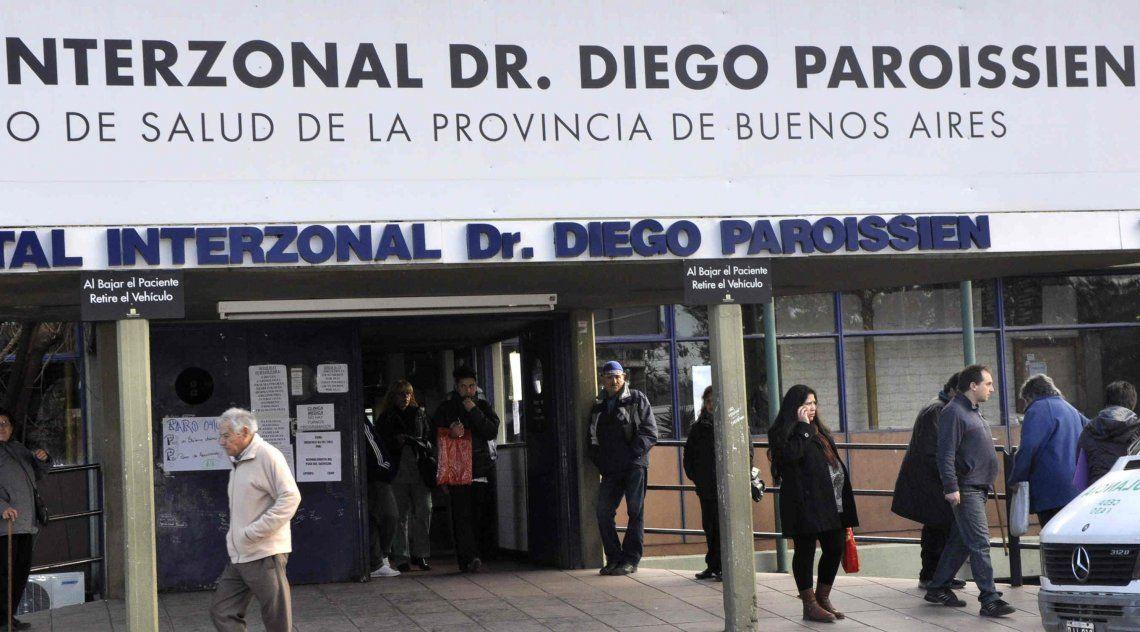 La mujer agredida fue trasladada al Hospital Paroissien.