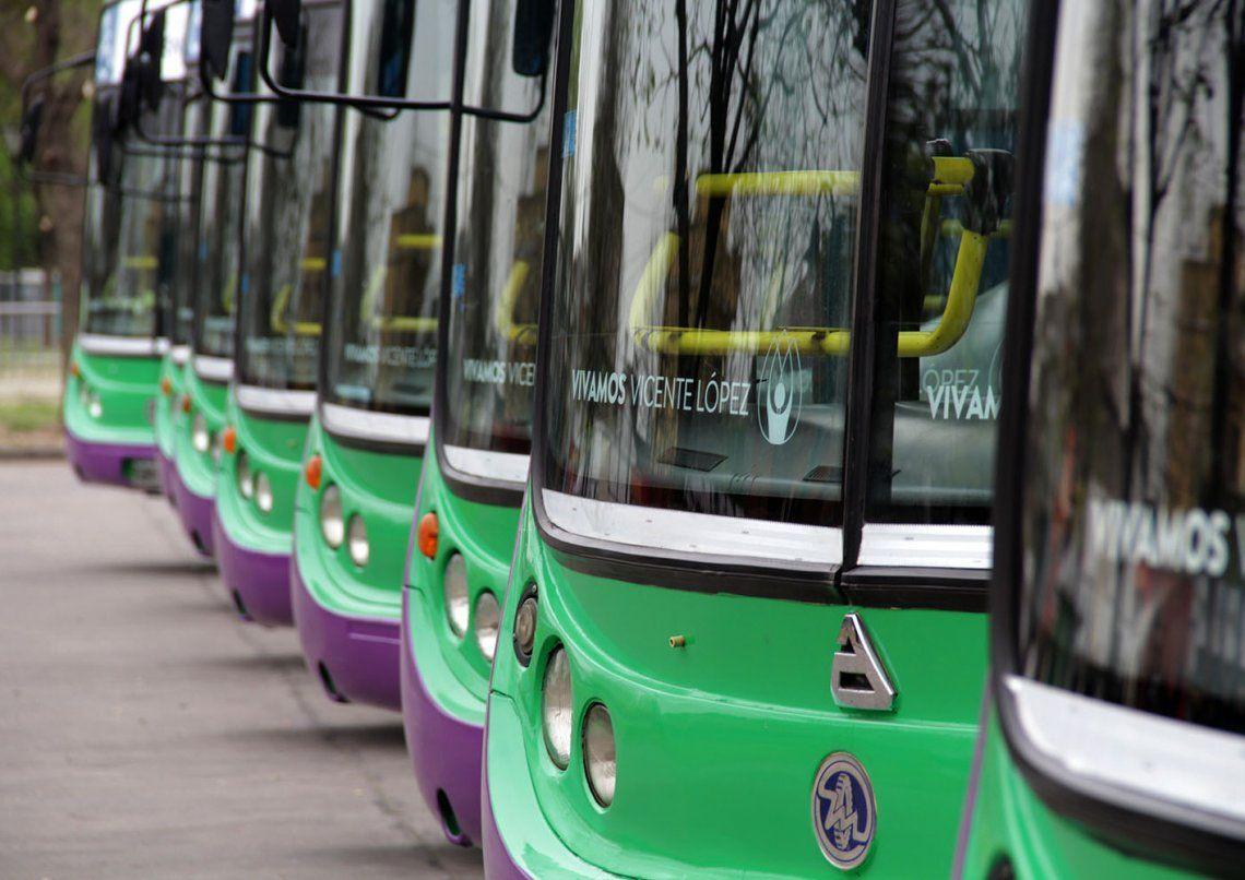 El Transporte Bicentenario cuenta con modernas unidades.
