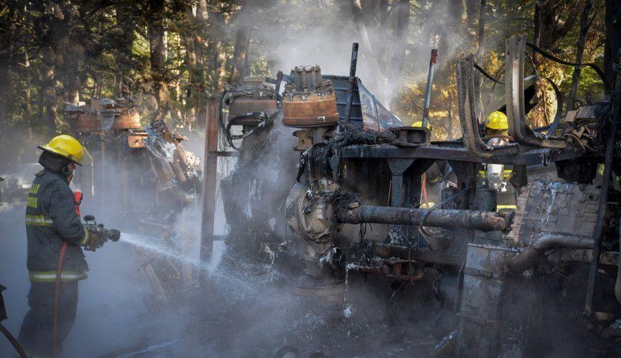 Villa La Angostura: falleció un bombero y son dos los muertos por el triple choque