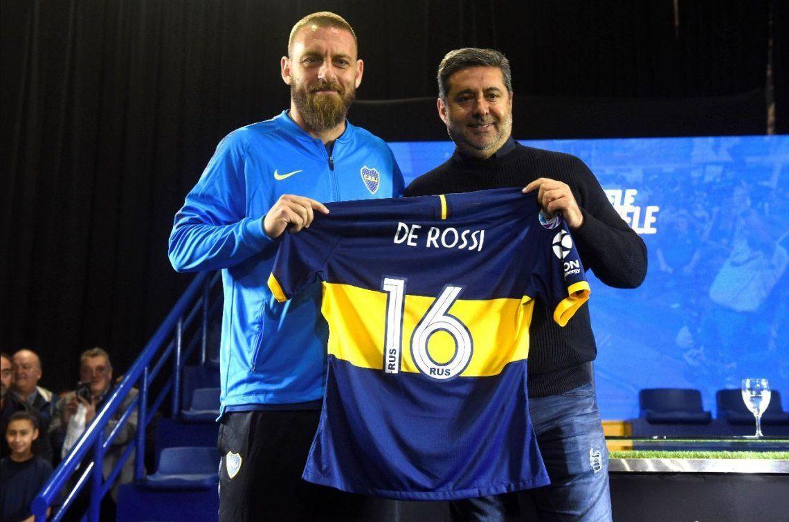 Daniele De Rossi, presentado en Boca: Llevo mucho tiempo estudiando este club