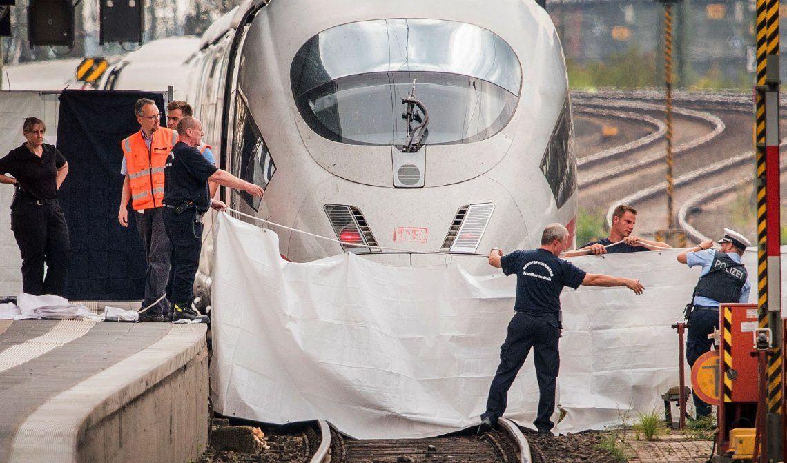 Alemania:  un hombre arrojó a una mujer con su hijo a las vías tren de alta velocidad