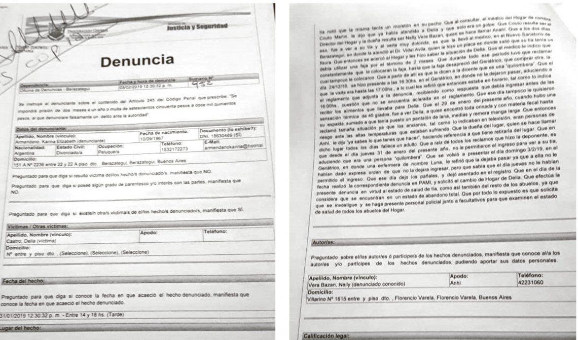 Florencio Varela: PAMI intervino al geriátrico Luz Divina por una denuncia