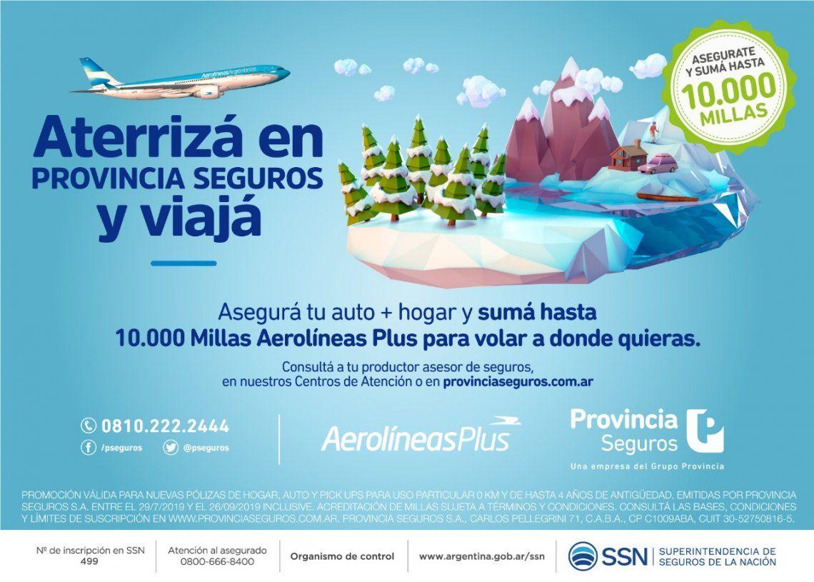 Provincia Seguros lanza su nueva campaña junto a Aerolíneas Argentinas