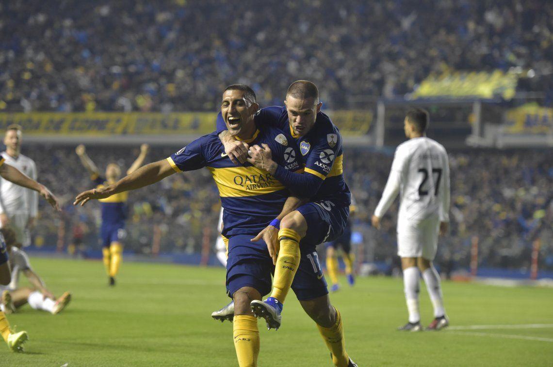Los goles de Wanchope Ábila y Eduardo Salvio para que Boca pase a cuartos de final