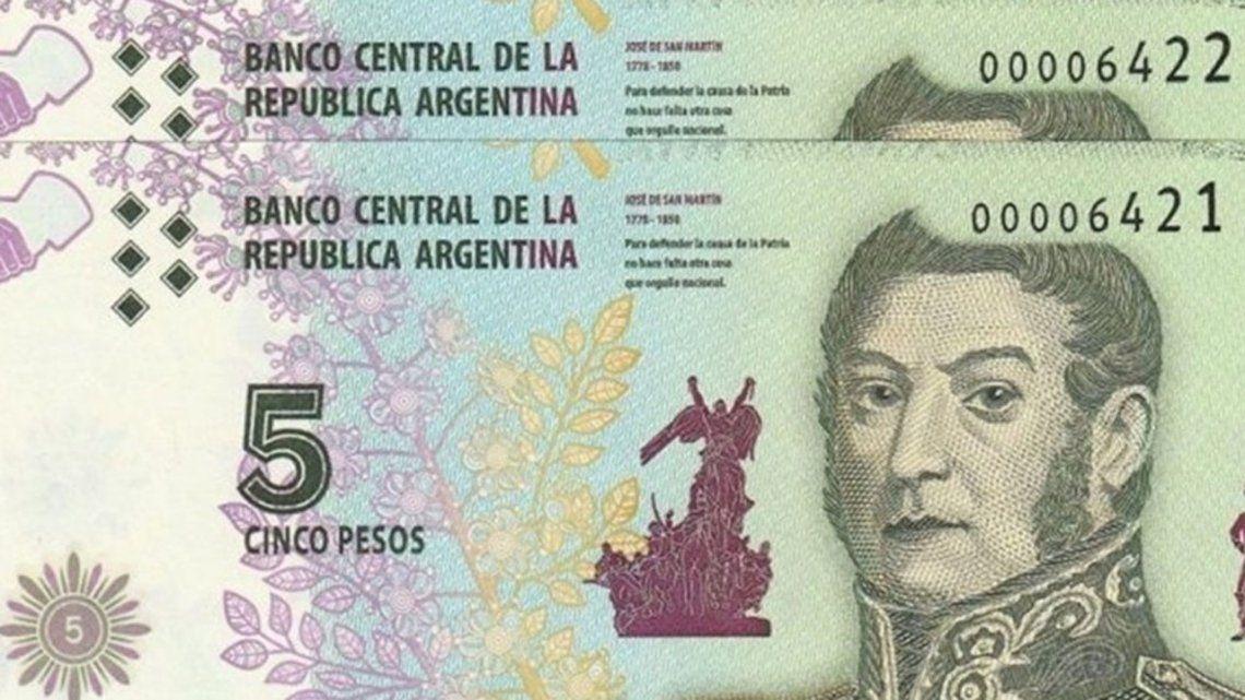 Los billetes de $5 salen de circulación: hasta cuándo sirven y cómo cambiarlos