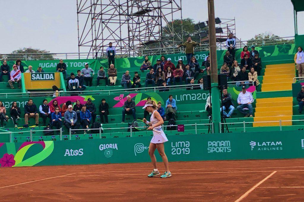 Nadia Podoroska ganó la medalla de oro en tenis de los Juegos Panamericanos de Lima