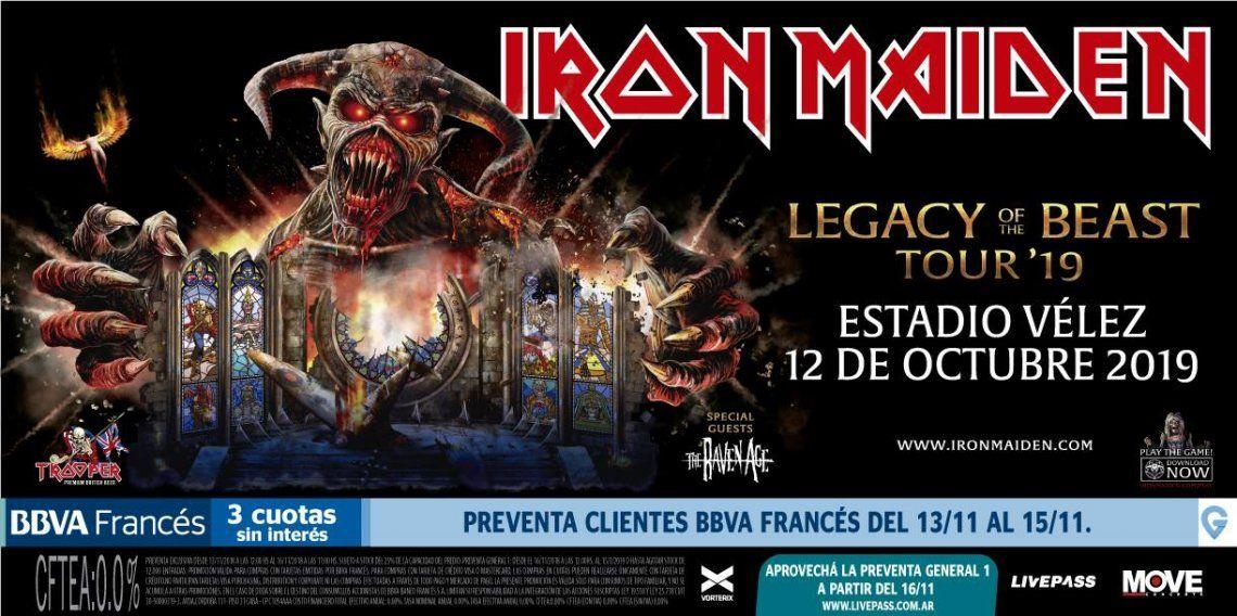 Iron Maiden regresa a la Argentina: fecha del recital, cómo sacar entradas, horario y precio de los tickets