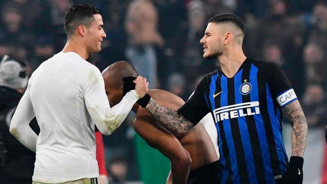 Cristiano le da una mano a Icardi para que llegue a la Juventus