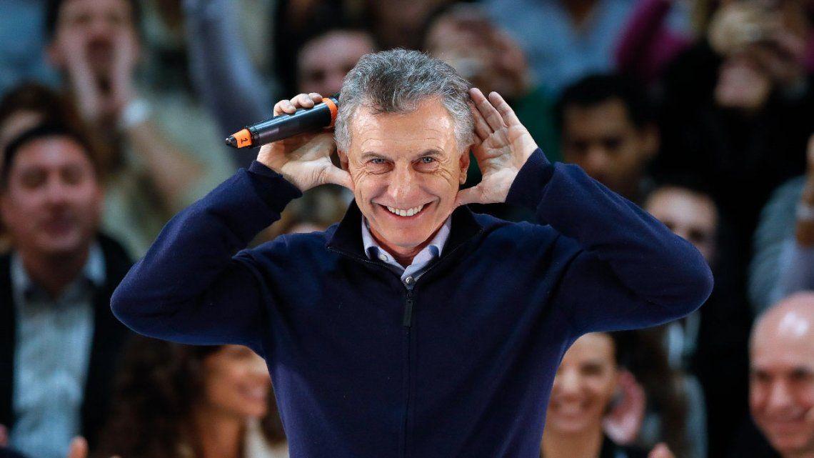 PASO 2019   Mauricio Macri hizo el Topo Gigio de Riquelme en el cierre de Larreta