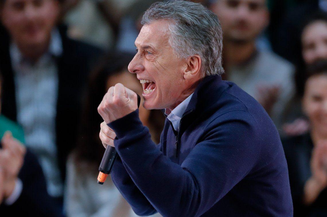 PASO 2019 | El exabrupto de Mauricio Macri en el cierre de campaña de Larreta: : No se inunda más, no se inunda más, carajo