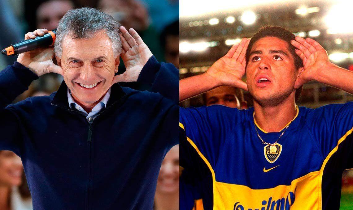 El día que Juan Román Riquelme le dedicó el Topo Gigio a Mauricio Macri