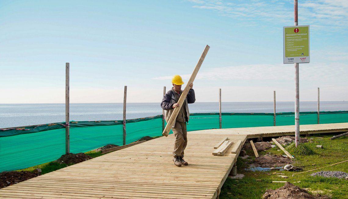 La extensión de la pasarela recorrerá gran parte del Paseo de la Costa