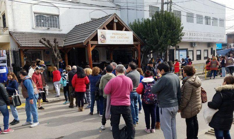 La parroquia de avenida Mosconi es una de las más concurridas después de la de Liniers.