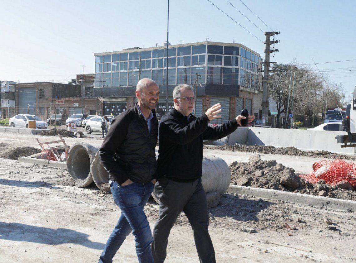 Florencio Varela: Guillermo Dietrich recorrió obras de Metrobus