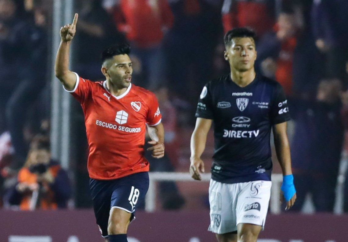 Los dos goles de Silvio Romero para que Independiente se vaya con una ventaja a Ecuador