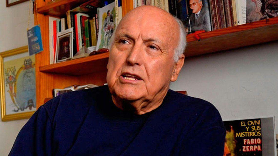 A los 90 años, murió el célebre ufólogo Fabio Zerpa