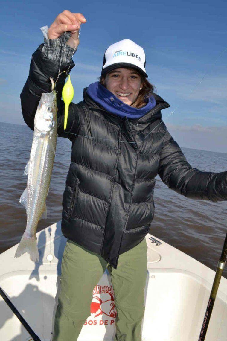 La Peque Pareto hizo podio pescando pejes