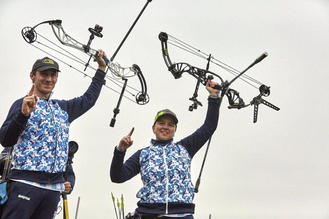 Juegos Panamericanos de Lima 2019: González y Nikolajuk ganaron el 25° oro para Argentina en la prueba compuesto mixto de arquería