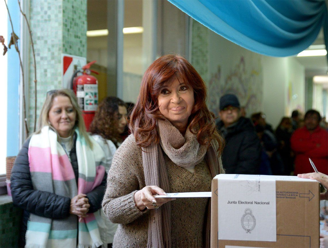 PASO 2019| Cristina Kirchner votó en Río Gallegos