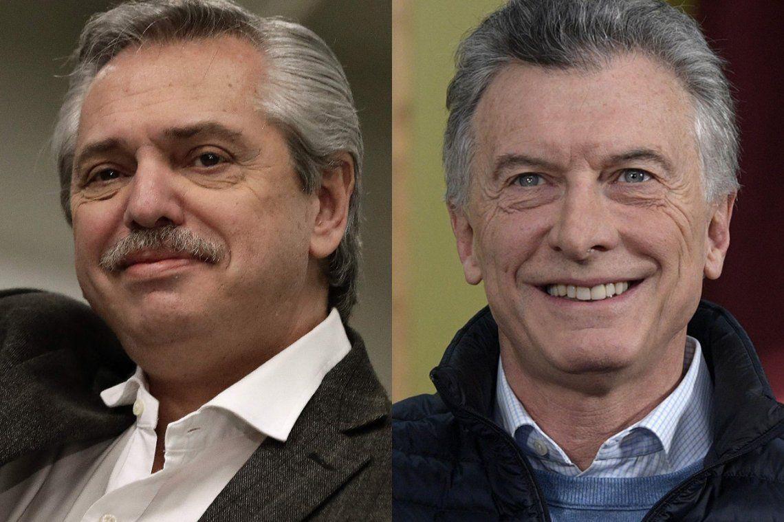 Mauricio Macri y Alberto Fernández, juntos en un seminario en el MALBA