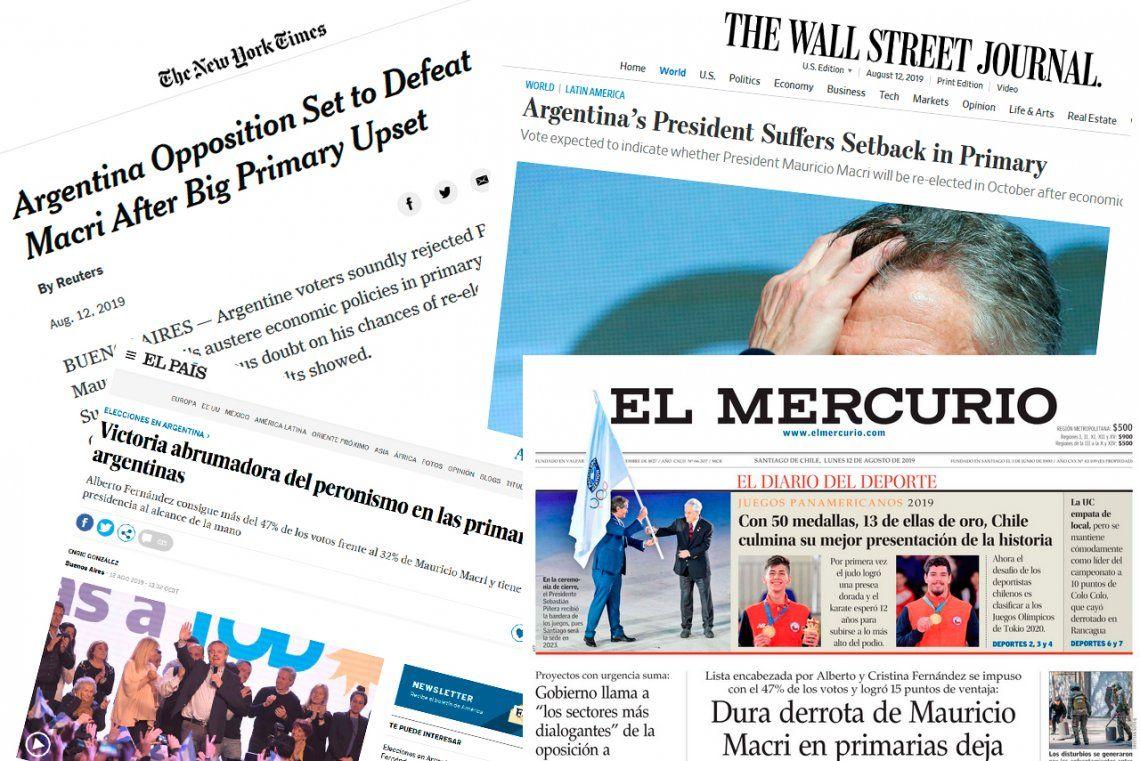 PASO 2019: así reflejaron los diarios del mundo la derrota del gobierno