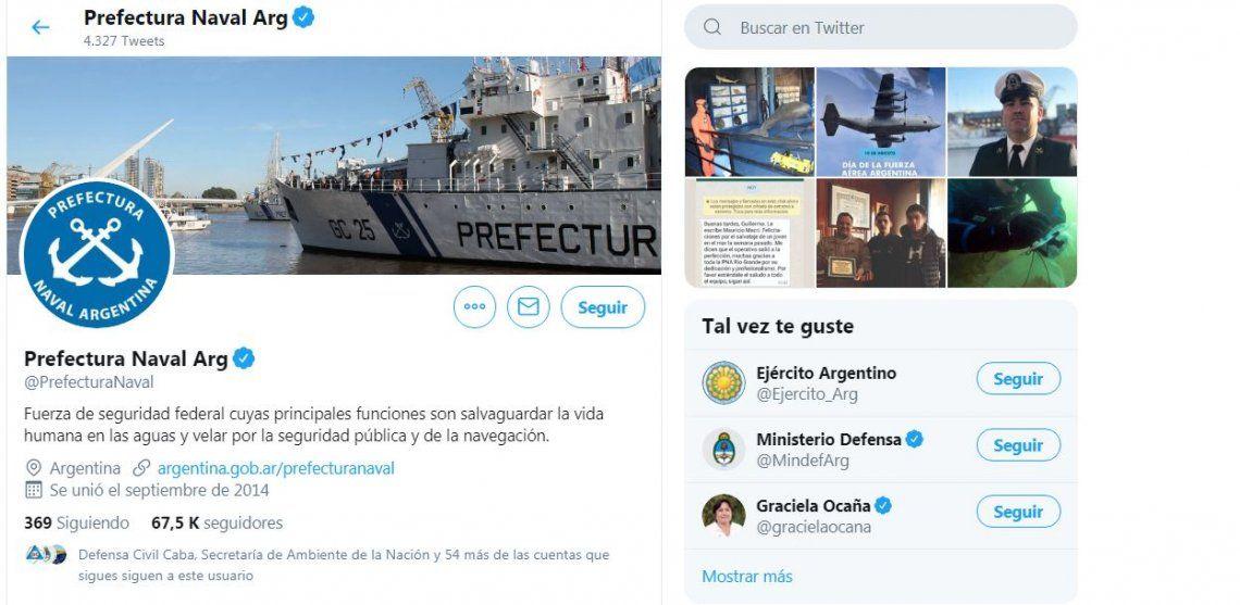 Hackearon la cuenta de Twitter de Prefectura