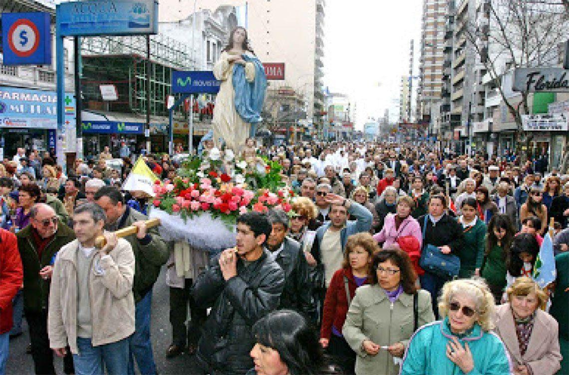 Avellaneda: celebran a Nuestra Señora de la Asunción