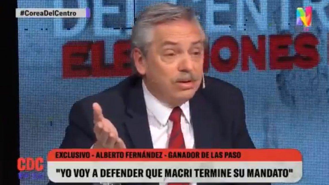Alberto Fernández: Quiero un país donde dejemos de maltratarnos