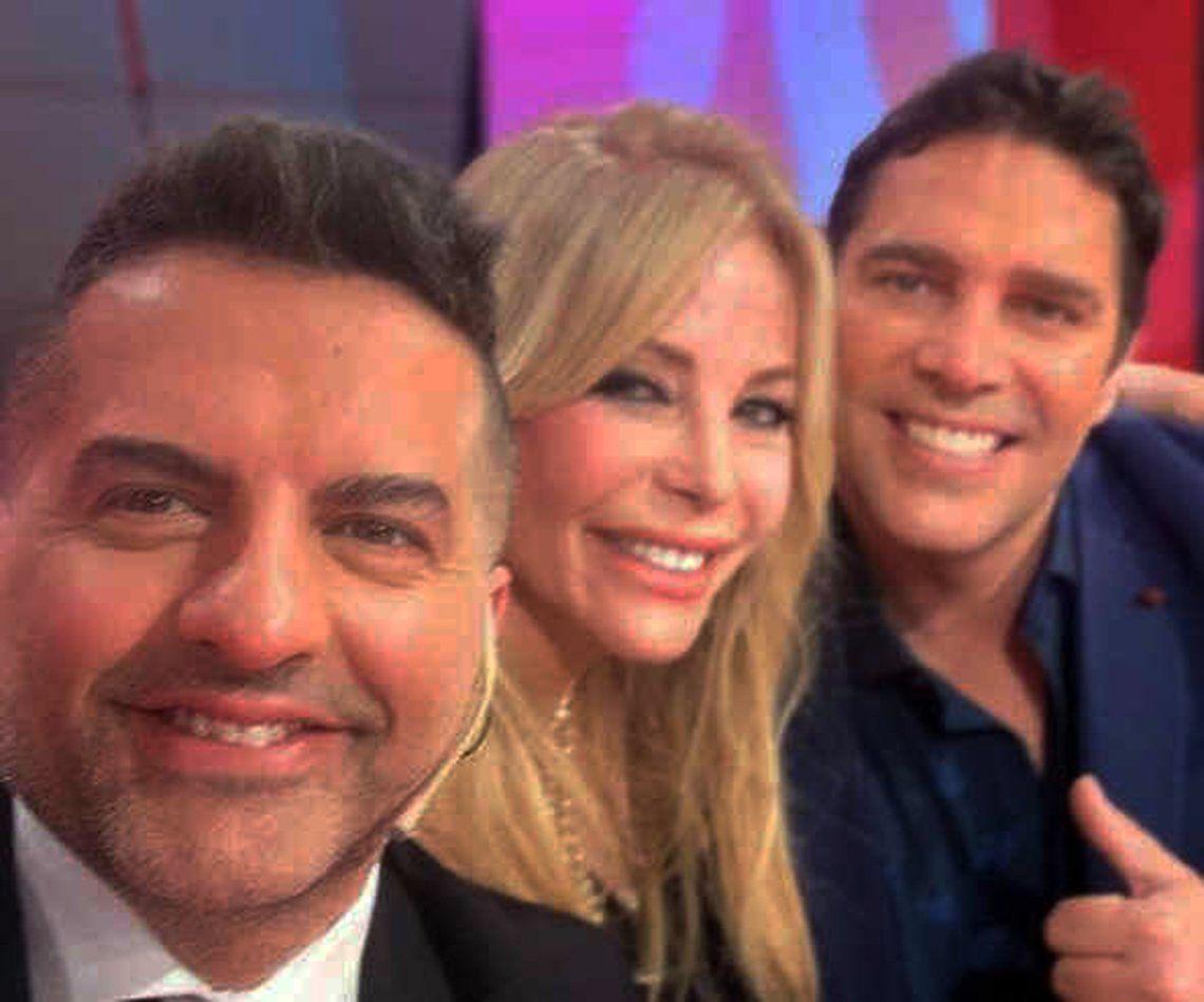 Matías Alé y Graciela Alfano se juntaron en Los Ángeles a la mañana