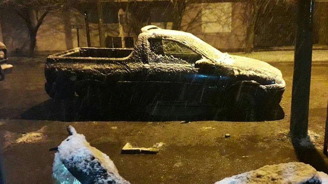 Ola de frío: la nevada en Buenos Aires, en fotos