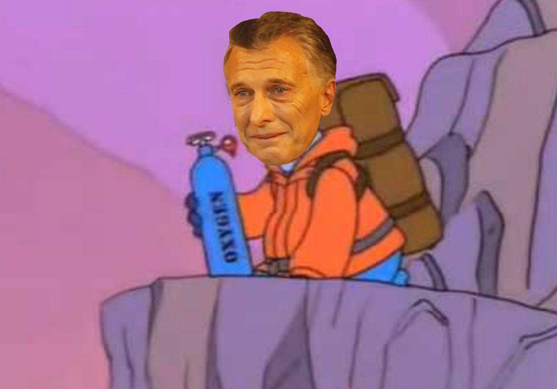 Llovieron los memes por la analogía de Macri con trepar el Aconcagua