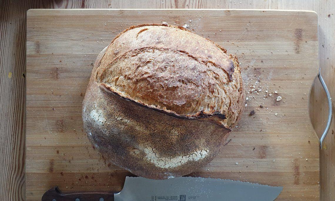 El pan con masa madre tiene una característica bien definida: de miga muy alveolada y una corteza bien crujiente