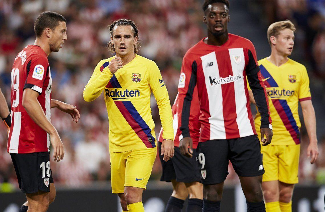 Liga española: Barcelona, sin Messi, aburrió en su debut y perdió ante Bilbao