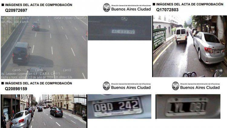 Los autos en que se mueven los candidatos deben multas