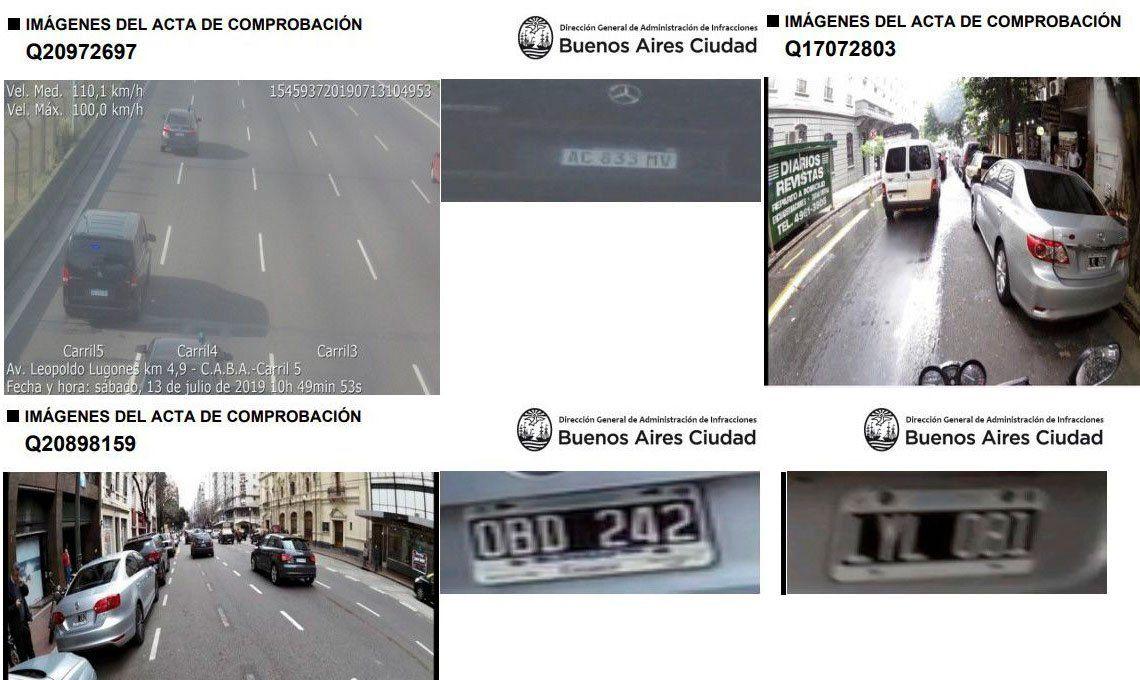 Los autos en que se mueven los candidatos del Frente de Todos y Juntos por el Cambio deben multas